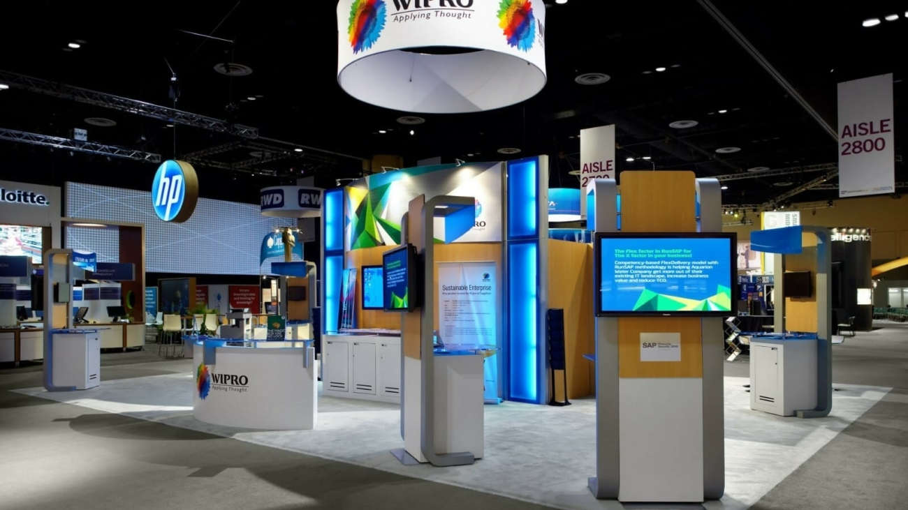Wipro Trade Show Booth at SAP SAPPHIRE NOW in Orlando, Florida.